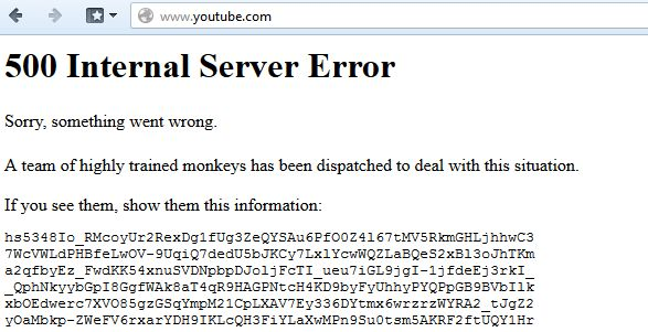 youtube down