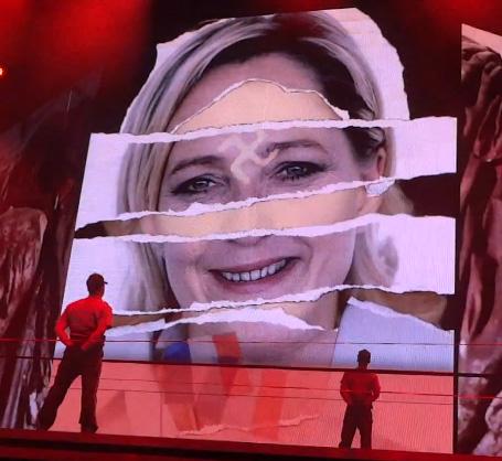 Marine-Le-Pen-croix-gammée-Madonna